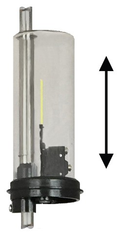 LS Switch moves vertically along tank tube to set liquid level