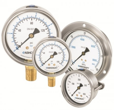 Ashcroft's new pressure gauge meets EN837-1 and ASME B40.100 standards