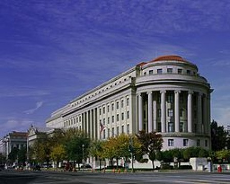 The Apex Building, headquarters of the Federal Trade Commission, on Constitution Avenue and 7th Streets in Washington, D.C..