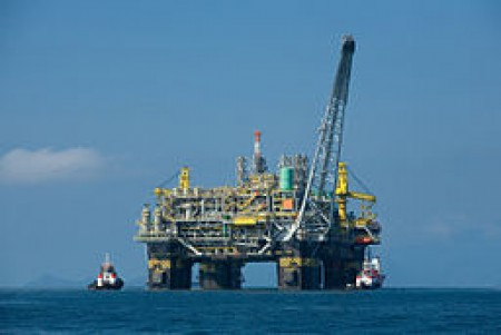 Brazil - The first 100% Brazilian oil platform, the P-51 will produce about 180 thousand barrels of oil and 6 million cubic meters of gas per day when operating at full load. Courtesy of Divulgação Petrobras / ABr via Wikimedia Commons