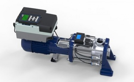 Fully equipped Movitec H(S)I with KSB SuPremE IE5 motor, PumpDrive 2 variable speed system and PumpMeter monitoring unit. (© KSB Aktiengesellschaft, Frankenthal, Germany)