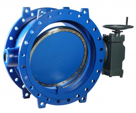 The new Aporis butterfly valves are used for applications where huge volumes of water need to be transported and shut off reliably. (© KSB Aktiengesellschaft, Frankenthal)