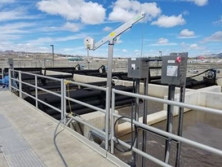 At Elko's wastewater treatment facility in Nevada, Landia's mixers homogenise sludge in anoxic tanks