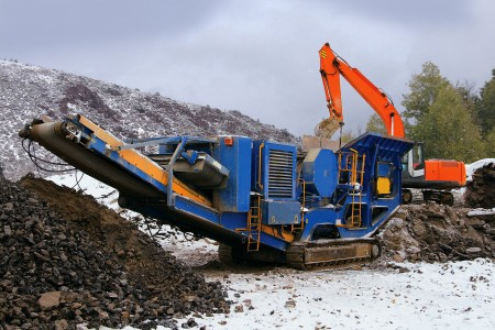The rock crushers where the flowmeters where installed. Image courtesy of Titan.