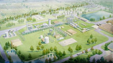 An artist's impression of the $130m advanced biofuels plant