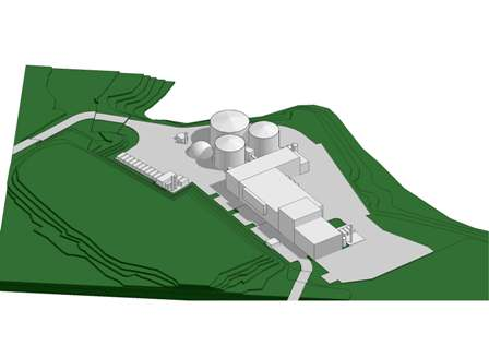 An artist's impression of the NOK350m biogas plant, slated for completion by Q4 2012