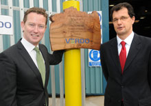 Greg Barker (left) and Richard Smith (right) attended the plant's opening ceremony