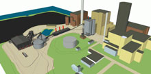 An image of what the gasification plant will look like, thanks to NIB's investment