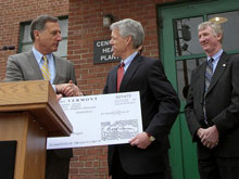 Mayor John Hollar accepts latest cash injection into Montpelier project