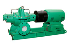 The SCP horizontal split case pumps are available in 64 models