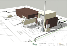 An artist's impression of Estover's £65 million CHP plant