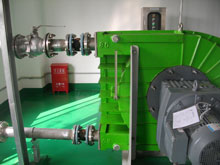 The application uses a number of VF80 hose pumps to dose 10% lime media at a flow rate of 17.6m³/h and working pressures of 2 bar.