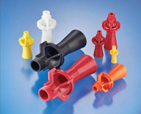 Spray Nozzle People's PVDF (Kynar) eductor nozzles are a cheaper alternative to metal models