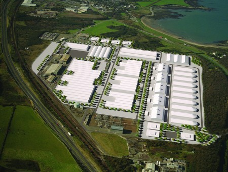 Aerial view of the future Orthios Holyhead Eco Park