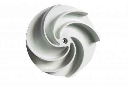 Its asymmetrical blade arrangement lets solids of different sizes pass the new F-max impeller