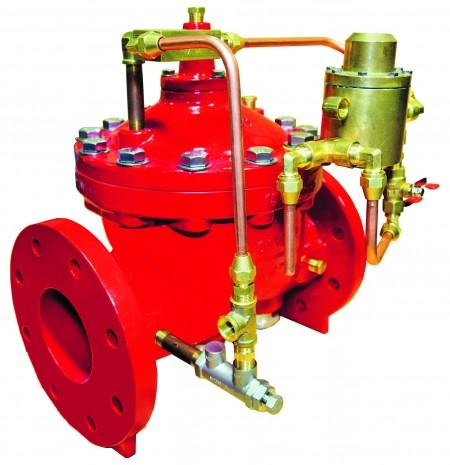 The smaller bonnet of Singer's Deluge valves makes their operation quicker
