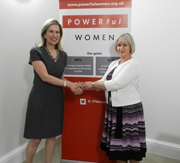 Left US Deputy Energy Secretary Elizabeth Sherwood  right EI CEO Louise Kingham