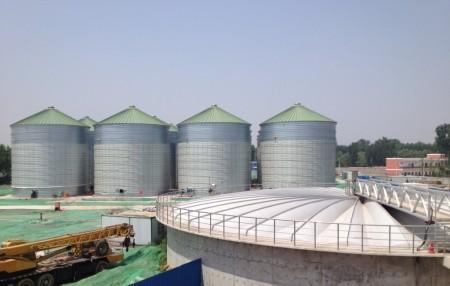 The new sludge handling facility in Matougang, China