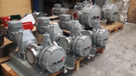 Jump JE Series eccentric disc pumps in various sizes