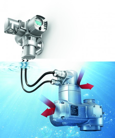 A new version of the Auma SA multi-turn actuator is suitable for continuous underwater use