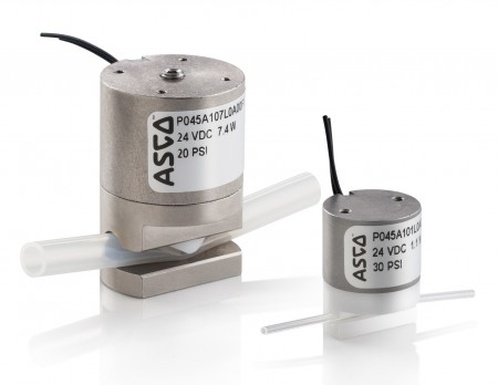 Asco 045 Series pinch valves are available in custom designs