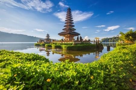 Pura Ulun Danu Bratan or Pura Beratan Temple Bali island Indonesia