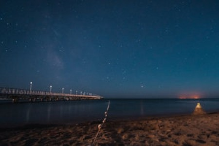 The night sky of Anapa on the Black Sea