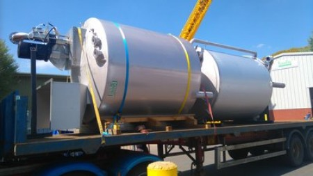 A Landia pasteuriser and ensiling tank will be heading to an AD plant in Scotland