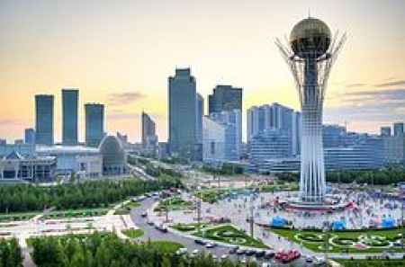 Astana, Bayterek, courtesy of Askar 9992 via Wikimedia Commons