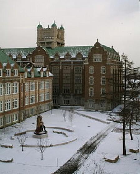 View of Concordia University's Loyola campus in winter