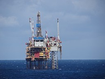 North Sea oil rig. Source: Wikimedia Commons