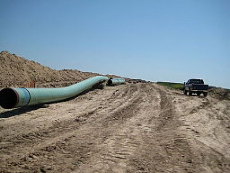 Pipes for the Keystone Pipeline. Source: Wikimedia Commons, by By shannonpatrick17