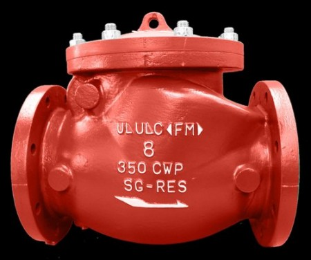 Mueller UL/FM check valve. Image courtesy of Mueller.