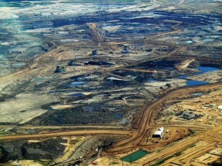 Tar sands in Alberta, Canada (via Wikimedia Commons, by Dru Oja Jay, Dominion).