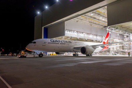 787-9 Dreamliner, the type of aircraft used on the flight. Source: Qantas