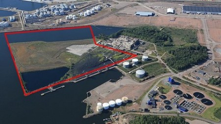 The proposed site is in the area of a dismantled power plant formerly run by the Pohjolan Voima energy company. Image courtesy of UPM