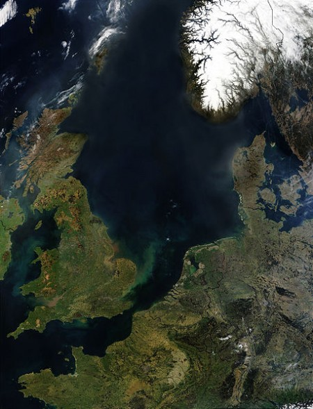 Forties serves 85 oil and gas assets in the North Sea (Wikimedia Commons/NASA).