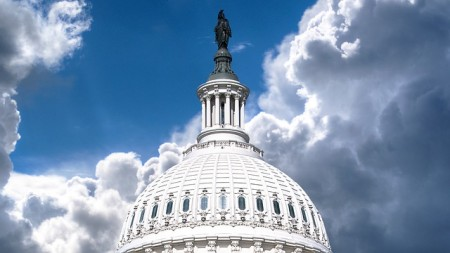 The dome of the United States Capitol Building, Washington, D.C.