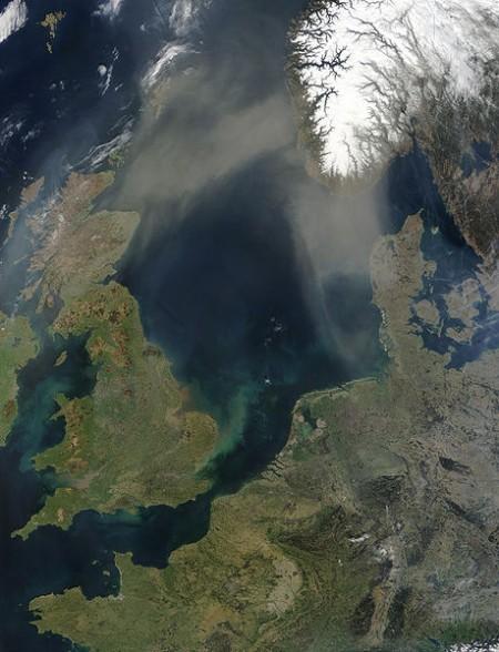 North Sea (via NASA)