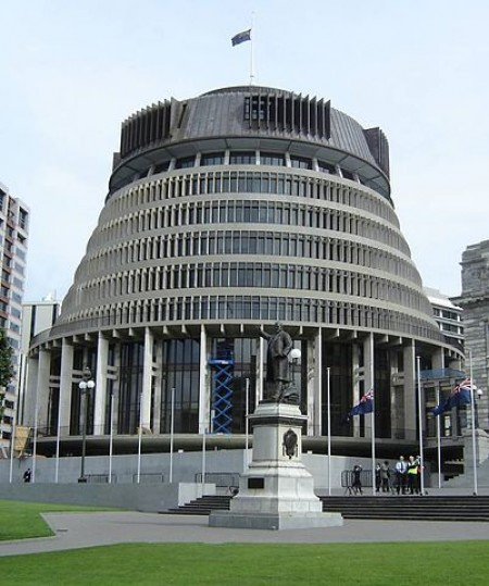 New Zealand's Parliament Building (Wikimedia Commons/Silenceisfoo)