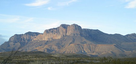 View of El Capitan in the Guadalupe Mountains of West Texas (Wikimedia Commons/Leaflet)