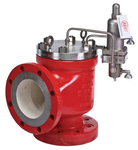 Farris' 3800 Series pilot operated relief valve with modulating control (via Business Wire)