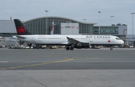 An Air Canada Airbus A-320 in Toronto