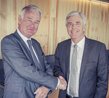 RenFuel CEO Dick Carrick and Preem CEO Petter Holland (via RenFuel, photo by Fredrik Kron)
