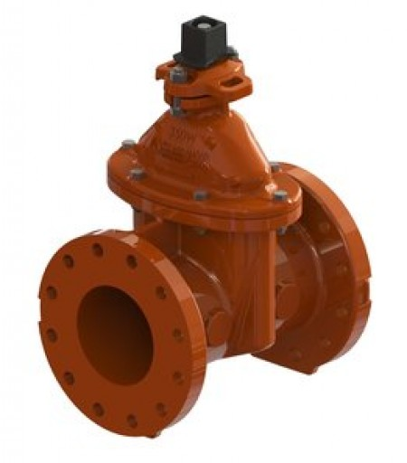 Class 250/300 resilient wedge gate valves. Image courtesy of Mueller Water Products