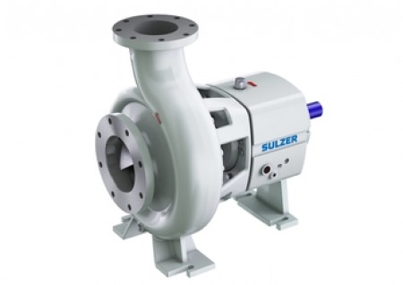 Sulzer's new CPE end-suction single-stage centrifugal pump. Image courtesy of Sulzer