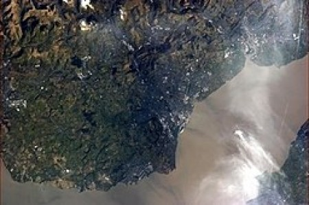 Cardiff from the International Space Station