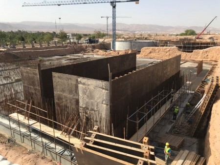 Early construction in North Aqaba, Jordan, where Landia Flowmakers are to be installed. Image courtesy of Landia